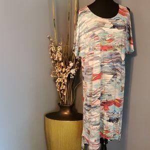 Indigo Thread Co. Open Shoulder Maxi Dress size 1X